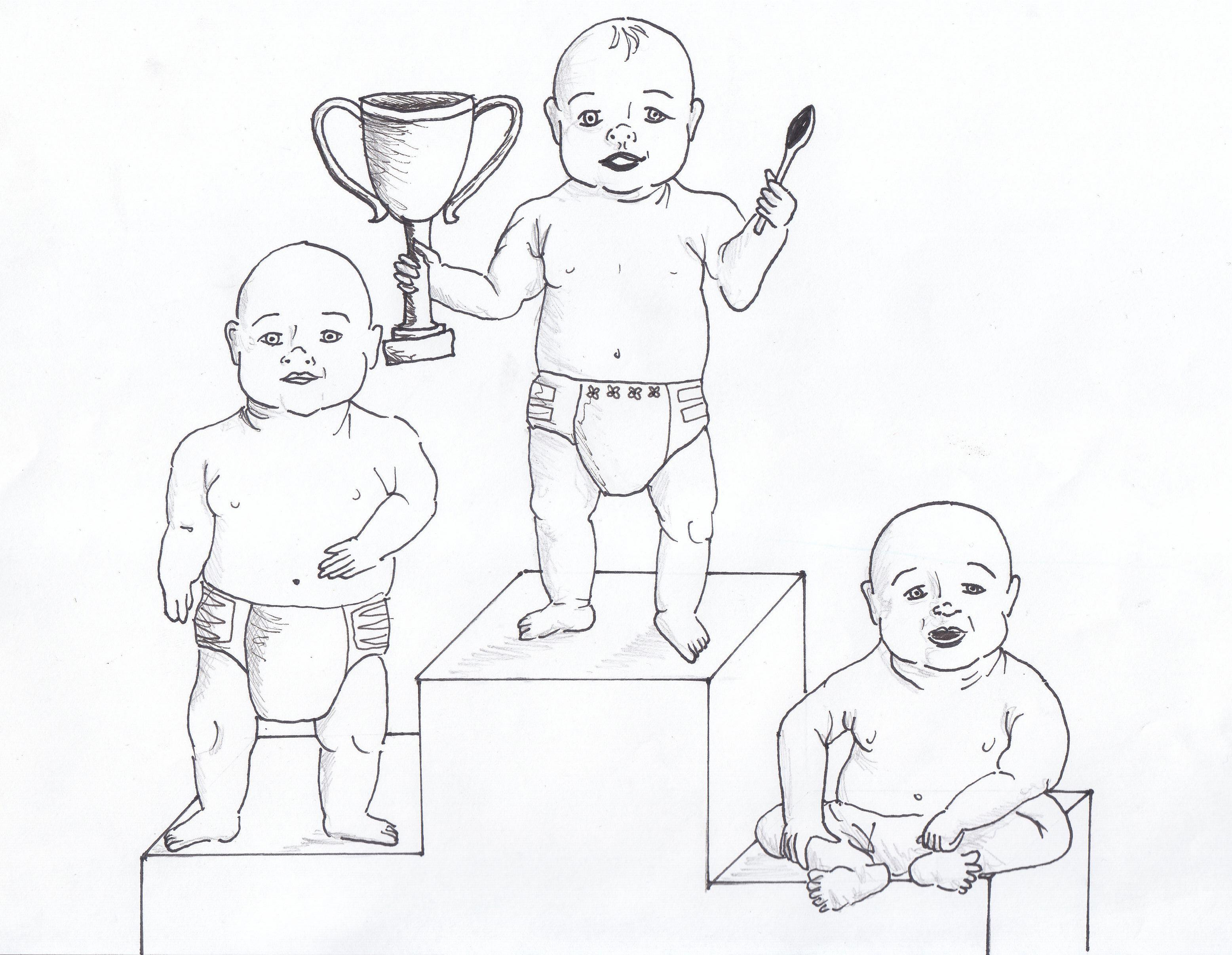 Vauvat palkintopallilla