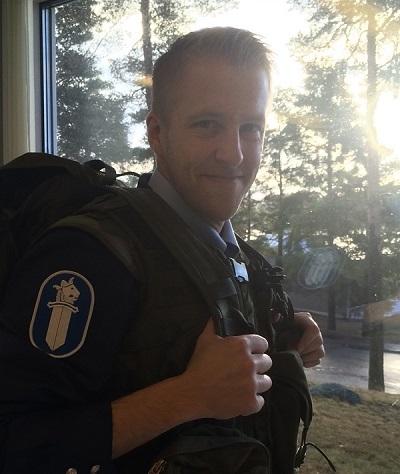 Lounais-Suomen Ylikonstaapeli Riku Sukari.