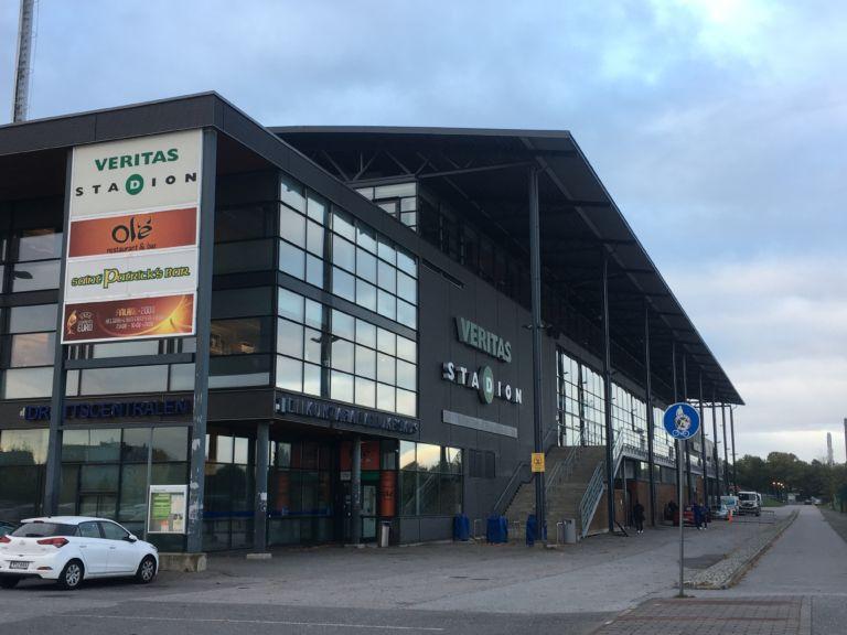 Veritas Stadionilla pelataan maanantaina Suomi - Turkki A-maaottelu. (Kuva: Matias Höglund)