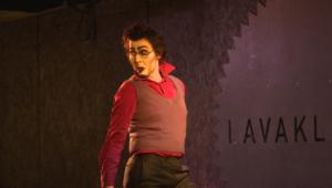 Drag King Blut Vendemann villitsee yleisöä yhdistämällä esityksissään dragiä ja burleskia.  ©Tahiti Viro