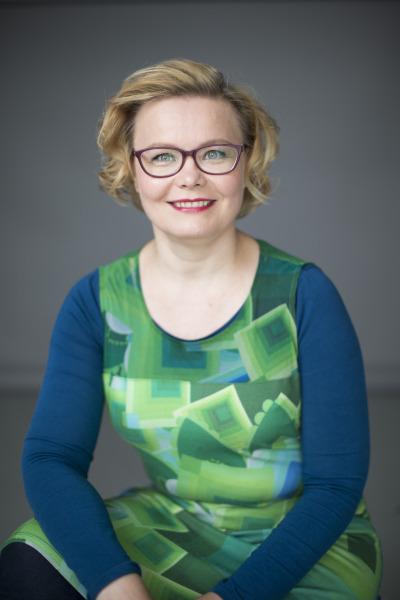 Aivotutkija Minna Huotilainen, kuva: Otava.