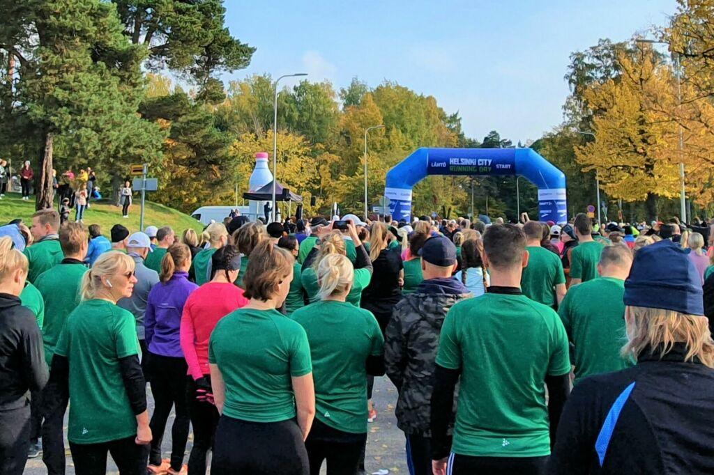 Helsinki City Running Day 2021:n startti, kuva: Stella Hag